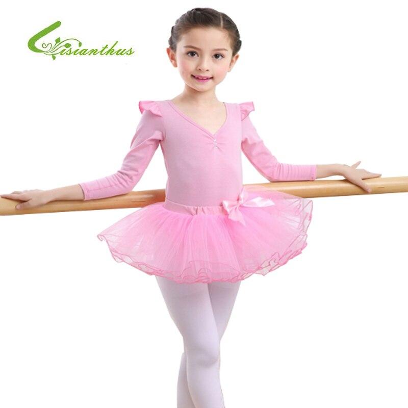 2017 New Girls Ballet Dress For Children Girl Dance Clothing Kids Ballet Costumes For Girls Tutus Dance Leotard Girl Dancewear