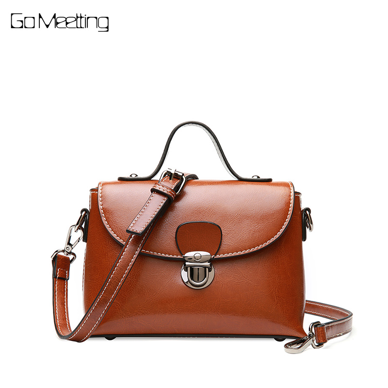Go Meetting Genuine Leather Luxury Handbags Women Bags Designer Crossbody Bags Small Messenger bags for women 2018 Shoulder Bag flobaby леггинсы