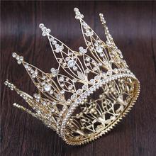 Red queen crown crystal bridal tiaras bride crown and