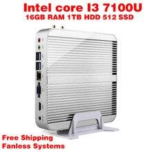 Мини-ПК Intel 7e Gen Кабы Lac Windows 10 i3 7100U 16 ГБ ОПЕРАТИВНОЙ ПАМЯТИ 512 ГБ SSD 1 ТБ HDD 300 М Wi-Fi TV Box Бесплатная Доставка usb 3.0 компьютер