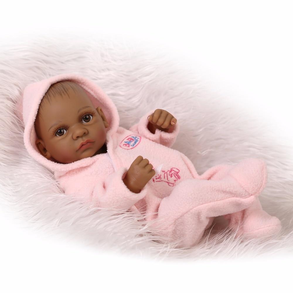 28cm boy Silicone Reborn Baby Doll Children Playmate Gift Toys For Girls Dolls reborn  knit wear Bathable Clothes Bebe Reborn 1