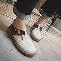 Novo 2017 patchwork mary janes sapatos de mulher moda primavera fivela lolita sapatos alpercatas mulheres do vintage da qualidade superior