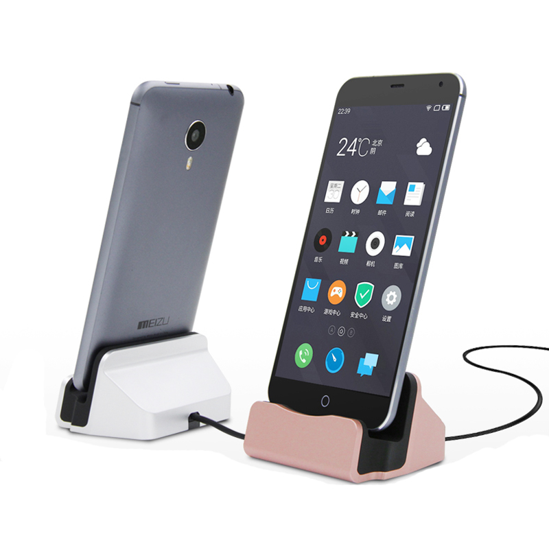 Creative 2in1 Micro Usb Station Sync Charging Dock Charger Stand For Samsung Galaxy S7 S6 Edge S5 Note 5 4 Lg G4 G3 Htc M9 M8 Huawei Etc.