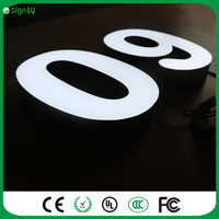 Frontlit Stainless Steel Signs LED 3D Illuminated Letters Signs For Company Advertising Customized