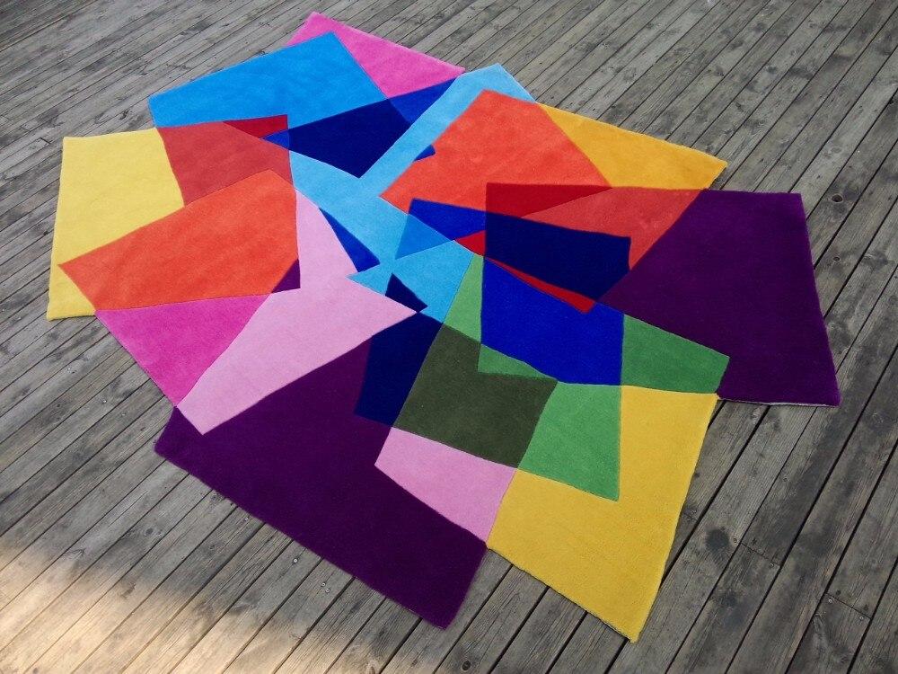 Tapis fait main créatif salon table basse en forme de tapis tapis couleur tapis mode personnalité en forme de tapis