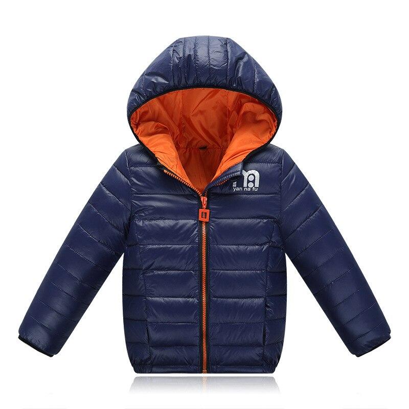 Meninos Jaqueta de Inverno 2017 Nova Marca Com Capuz Crianças Meninas Inverno casaco de Manga Longa Crianças À Prova de Vento Para Baixo Casaco Outwear Quente 4-12 anos