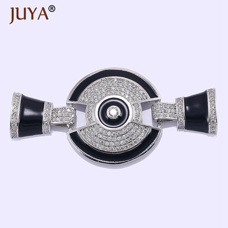Rhinestone Enamel Big Charms Connectors Clasp For Hand Made DIY  Multi-Strand Beaded   Pearls Necklace Bracelet Jewelry Making 547b30ce9dc8