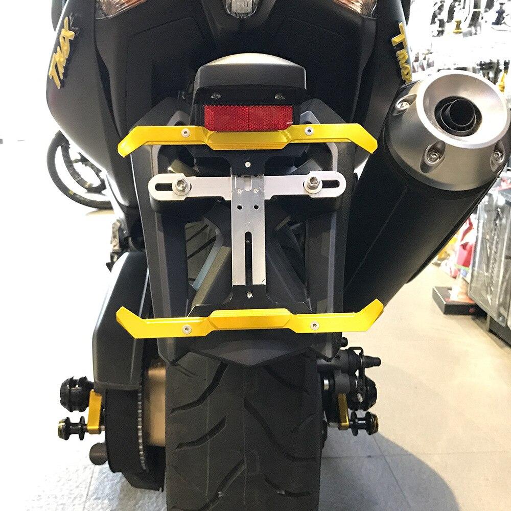 Universel réglable moto CNC en alliage d'aluminium cadre numéro d'immatriculation plaque d'immatriculation titulaire moteur livraison gratuite