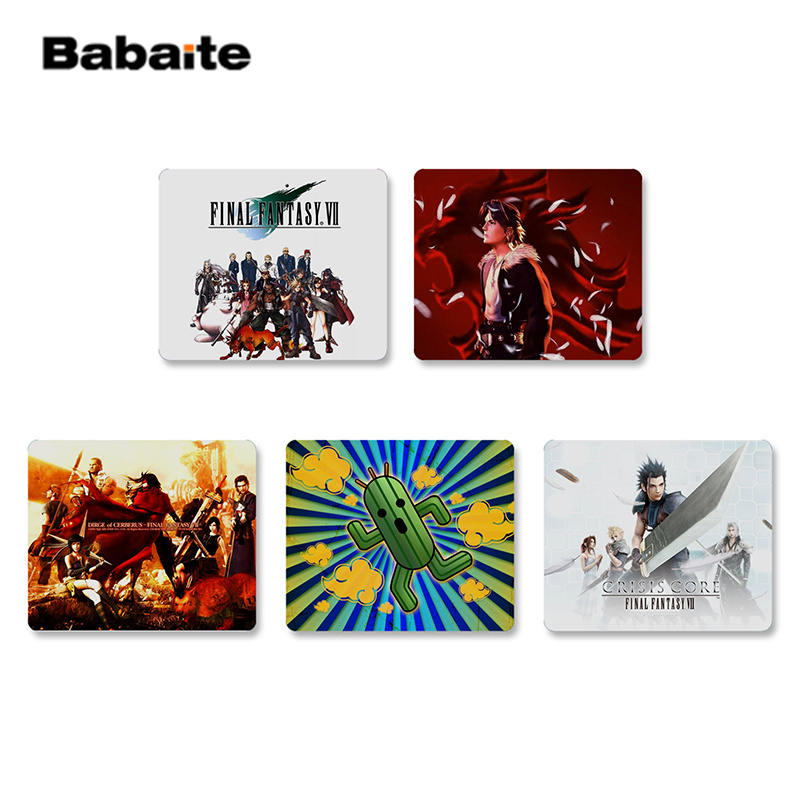 Babaite Top Quality <font><b>Final</b></font> Fantasy VII Rubber <font><b>Mouse</b></font> Durable Desktop Mousepad Top Selling Wholesale Gaming Pad <font><b>mouse</b></font> image
