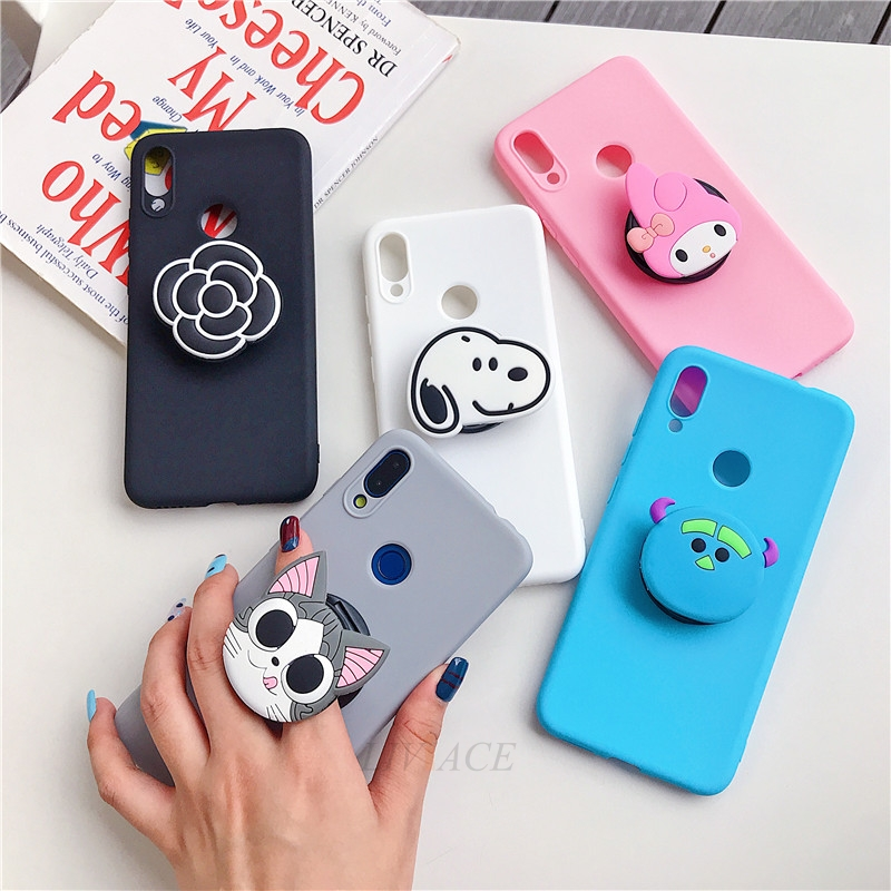 3D Cartoon Phone Holder Standing Case for Xiaomi Redmi Phone Made Of High-Quality Silicone And TPU Material 3