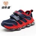 Beedpan 2016 Marcas de Moda Muchachos netos zapatos zapatos zapatillas de deporte del estudiante de verano de malla transpirable zapatos corrientes de las zapatillas de deporte grandes vírgenes P2003
