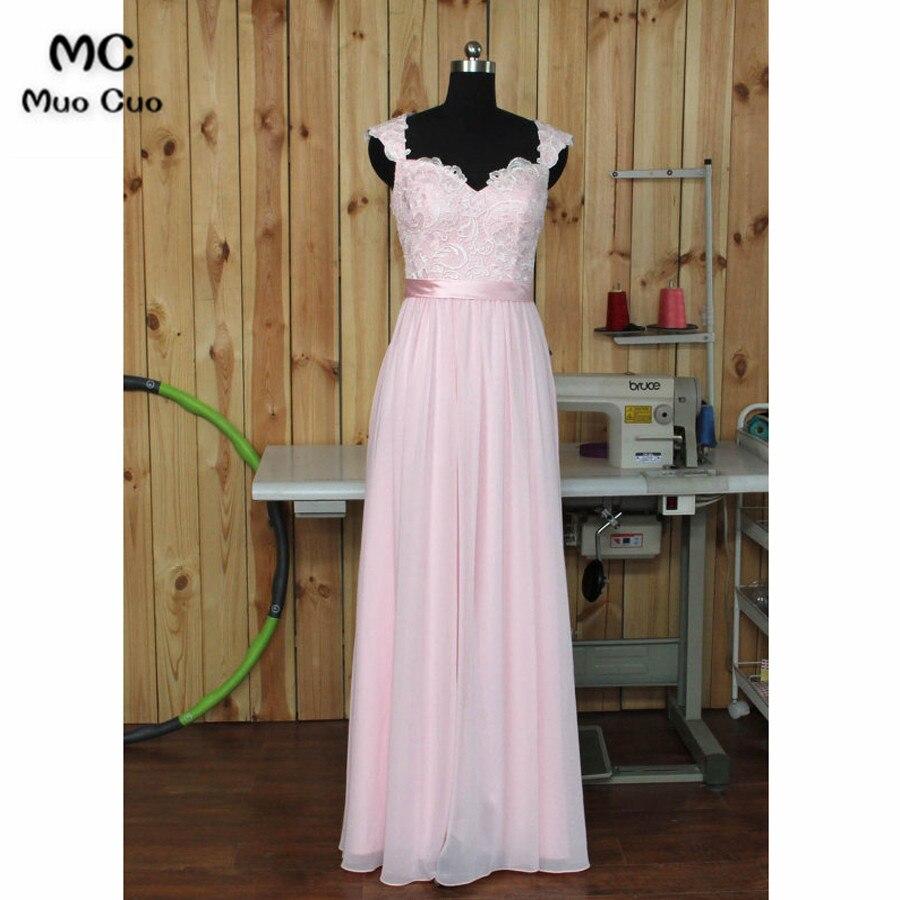 2018 Real Lace   Evening     Dress   Long Straps Vestido de festa longo Chiffon long Formal   evening   Party   dresses   for women