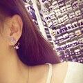 Fashion Brand Jewelry New Hot Rhinestone High Quality Charming Metal Flower Multicolor Stud Earrings GLE6131Y