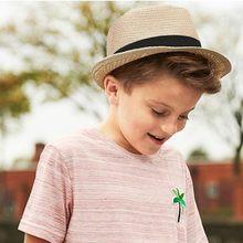 3c3c1d19df0 MUQGEW Children Kids Summer Beach Straw Hat Jazz Panama Trilby Fedora Hat  Gangster Cap Sun Cap