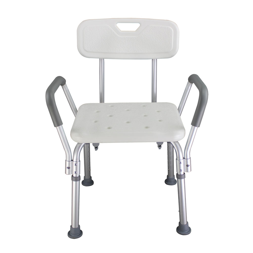 Commercial Furniture 100% True Elderly Bath Shower Chair Aluminum Alloy Medical Transfer Bench Ergonomic Old People Bathroom Armchair Cst-3052 White Us Stock