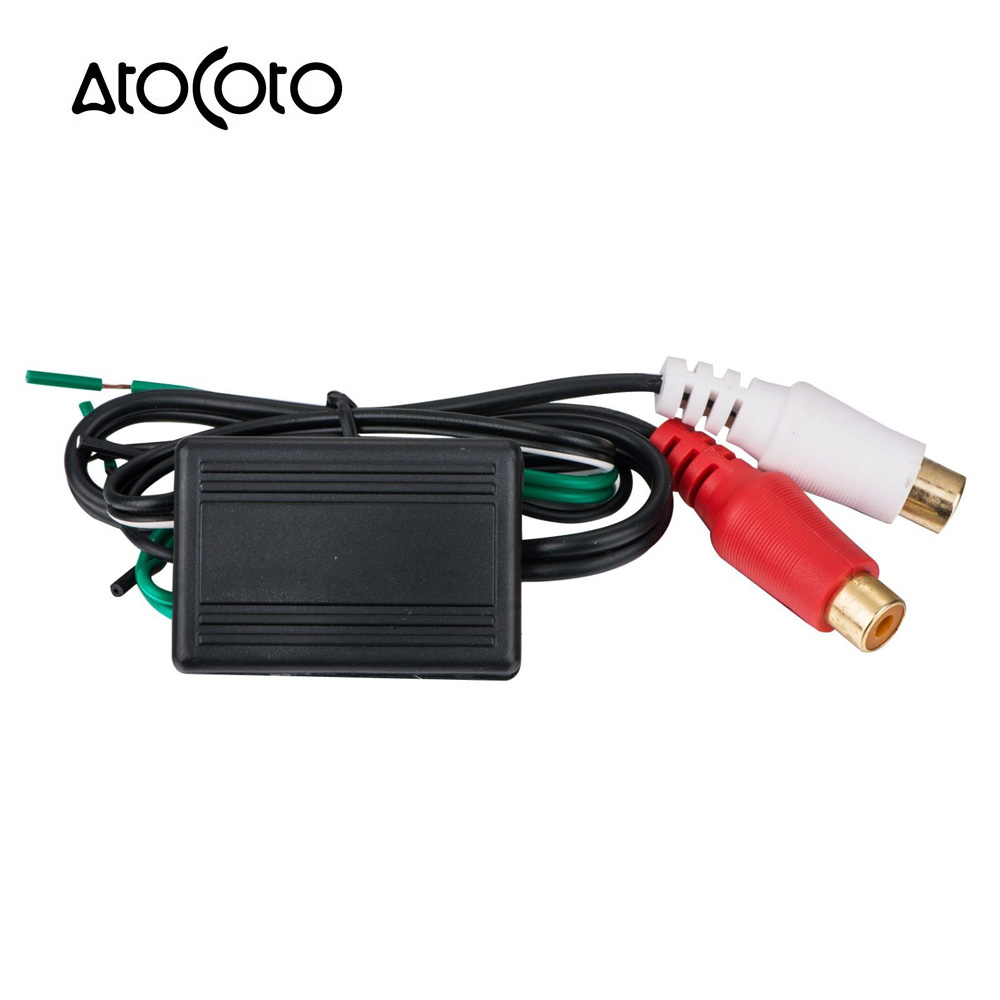 Atocoto Car Stereo Radio Speaker Wire To Rca Line Level