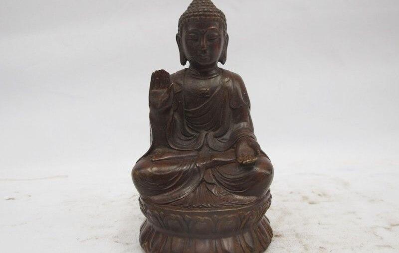China Tiabt Boddhist Classical Bronze Copper Sakyamuni Tathagata Buddha Statue