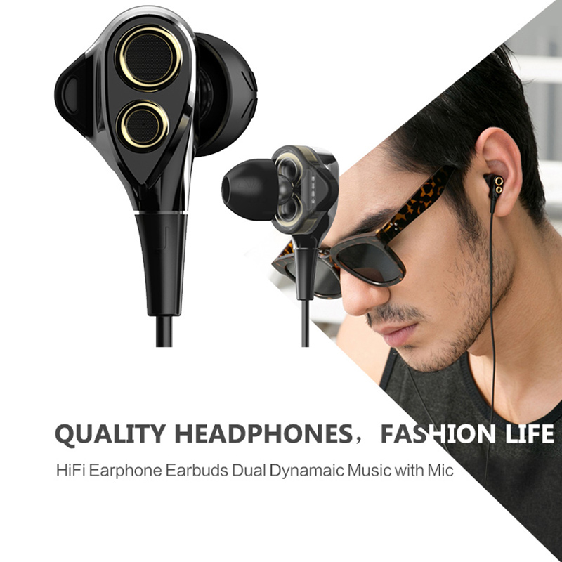 Original UiiSii T8 Hybrid HiFi Stereo Bass Music In-Ear Earphone stereophone Earbuds With Microphone For smartphone voice call