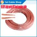 10 M/lote High end OFC CABLE de altavoz cable de altavoz del cable 99.99% de alta pureza oxgen cobre libre