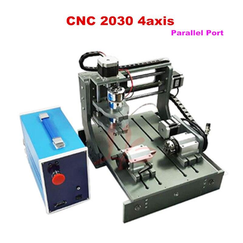 2030-tour à CNC à 4 axes à port parallèle pour la coupe du bois et du métal