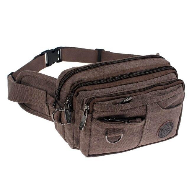 Alta Qualidade 2017 Cintura Lona Ocasional Pacotes de Viagem dos homens Zipper sacos de Homens Homens Mulheres Cintura Cinto Saco Portátil Sacos Livres grátis