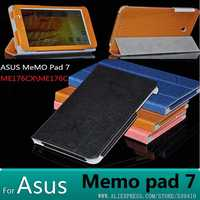 Voor Asus Memo Pad 7 ME176 ME176C ME176CX mode lederen case cover voor Asus Memo Pad 7 ME176 7