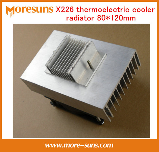 Free shipping X226 thermoelectric cooler radiator 80*120mm cooling system 60W heatsink+thermal pad computer cooler radiator with heatsink heatpipe cooling fan for hd6970 hd6950 grahics card vga cooler