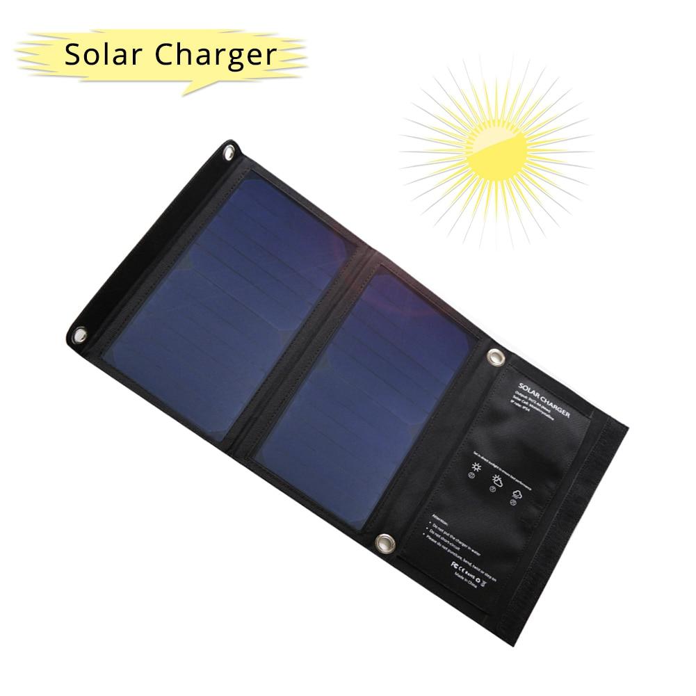 Lerranc Portable 15 W SunPower chargeur de panneau solaire 5 V/2A 2 USB sortie cellules solaires pour téléphones Tables à l'extérieur