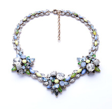 Jewelry Wholesale/2014 Colorful Flower Statement Necklace Outfit Accessories Free Shipping