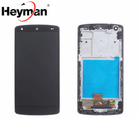 Heyman LCD for LG Nexus 5 D820 D821 Google LCD Screen and Digitizer Assembly touch with Front Housing Replacement parts
