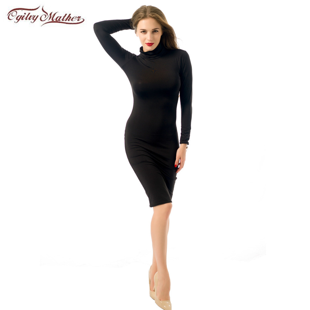Sexy club dress 2017 summer long sleeve maxi high top dress vestido de festa casual bandage bodycon party dresses black 11 color ...