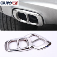 For Mercedes GLA180 200 250 GLA Class Stainless Steel Rear Bumper Dual Exhaust Pipe Trim Exhause Cover 2015 2016
