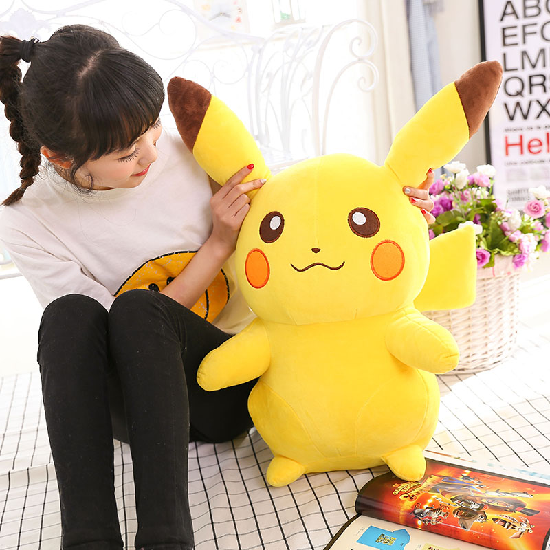 45cm Pikachu Plush Toys Children Gift Cute Soft Toy Cartoon Pocket Monster Anime Kawaii Baby Kids Toy Pikachu Stuffed Plush Doll cartoon pikachu waza museum ver cute gk shock 10cm pikachu pvc action figures toys go pikachu model doll kids birthday gift