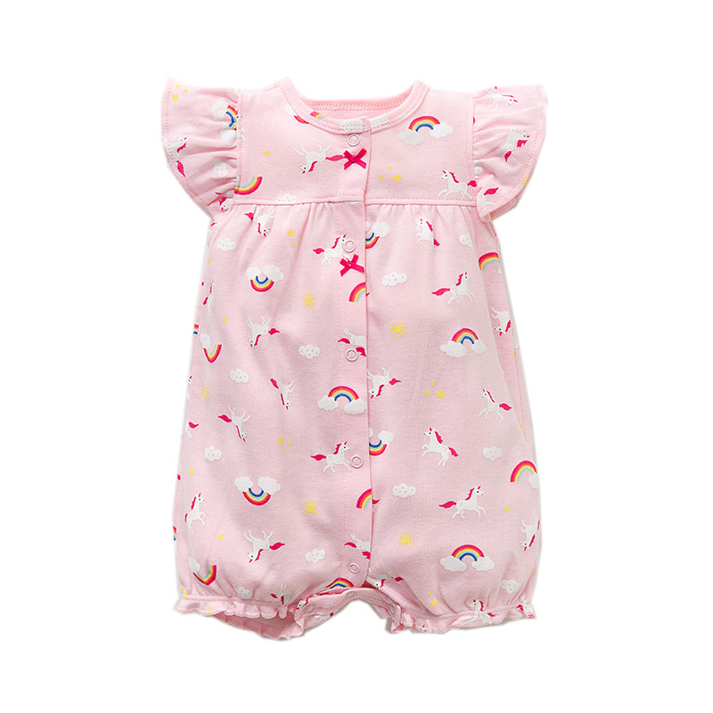 d649fa48ed95e Dropwow Summer brands Newborn Baby Rompers Short Sleeve Cartoon ...
