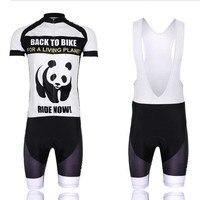 VTT Équipe Hommes ciclismo Vélo Jersey Quick Dry Respirant Évacuant Cyclisme Vêtements Panda Livraison Gratuite