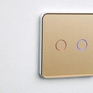 Image 5 - メーカー、 jiubei eu の標準タッチスイッチ、 2 ギャング 2 ウェイコントロール、 3 カラークリスタルガラスパネル、ウォールライトスイッチ、 C702S 11/12/3