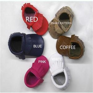 Image 1 - hot sale baby moccasins soft moccs baby shoes Free shipping &Drop shipping Toddler shoes