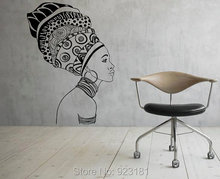african girl silhouette africa wall art stickers decal home diy decoration wall mural bedroom decor wall stickers african decor furniture