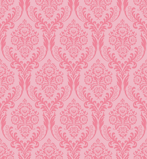 HUAYI Pink Damask Wallpaper Printed Photography Background Paper Backdrop D 4892