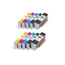 10Pcs Full ink for PGI570 CLI571 Compatible cartridges for Canon MG5750 MG5751 MG5752 MG5753 MG6850 MG6851 MG6852 MG6853 printer [hisaint] compatible cartridges suitable for canon printer cartridges 815 816 cartridges liner cartridges