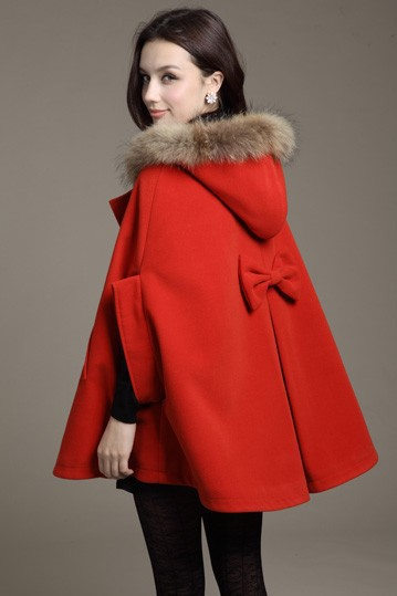 Women's Abrigos New Style Long   Trench   Coats Fashion Fur Collar Wool Coat Women Woolen Overcoat