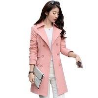 2019 Women Trench Coat Fashion Slim Double Breasted Trench Coats Female Casual Windbreaker Outwear jaqueta corta vento TB710072