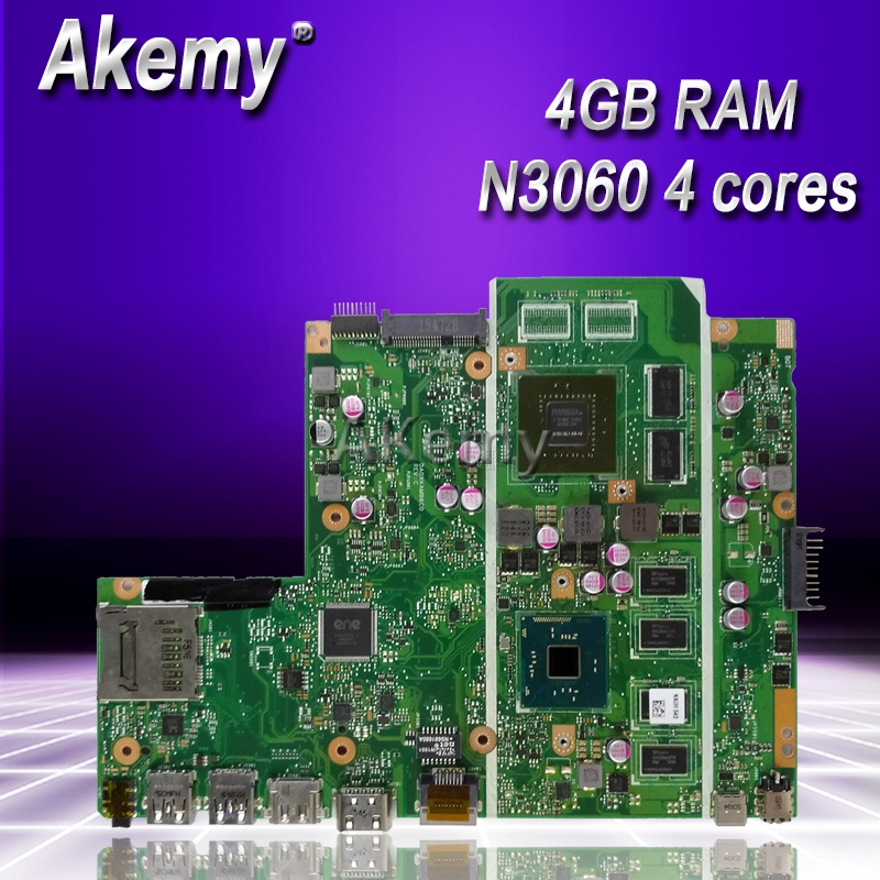 Akemy X541SC MB._4G/N3060/AS V1G 90NB0CI0 R00040 Mainboard For Asus X541S X541SC Laptop motherboard 100% tested