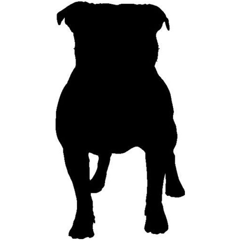 8.1*15CM Staffordshire Bull Terrier Dog Lovely Animal Car Sticker Funny Window Glass Decorative Decals C6-0557