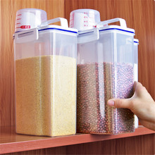 1pc Plastic Sealed Cans Kitchen Storage Box Transparent Food Canister Keep Fresh New Clear Container High Quality