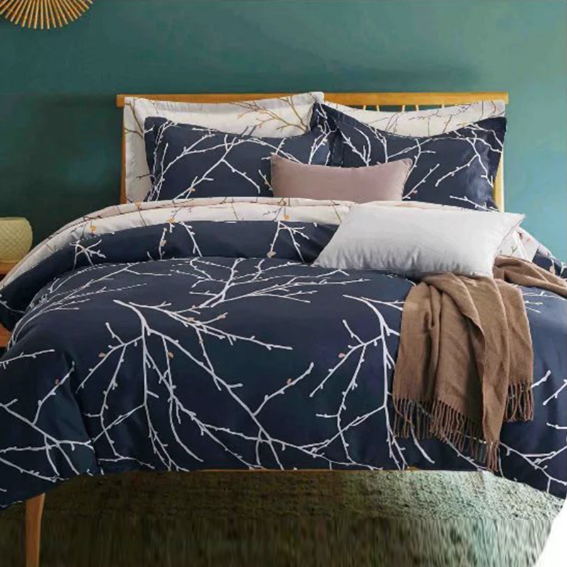 american retro style with branches printed bedding set duvet cover set comforter cover set