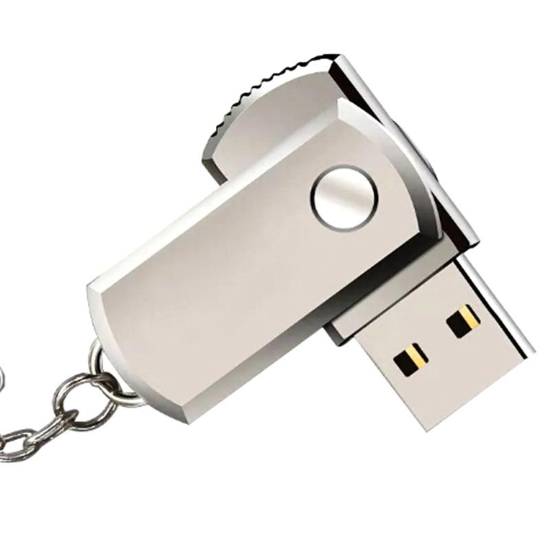 1pc Stainless Steel USB 2.0 Pen Drive 1gb 2gb  Usb Flash Drive Pendrive Usb Stick Flash Drive With Keychain Thumbdrive