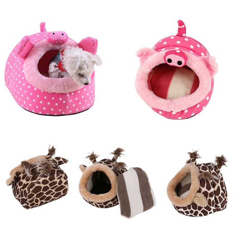 Plush Squirrel Hamster Cage Small Animal Bed Nest House Guinea Pig Chinchilla Hedgehog Hamster Pig Deer Bed Hamster Accessories