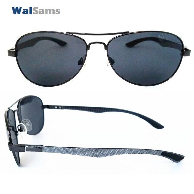 1ed50dc34 Metal Pilot Polaroid Sunglasses with Carbon Arm Lightweight and Polarized  Lens Sunglasses for Men Aviator Sunglasses Eyewear-Cab