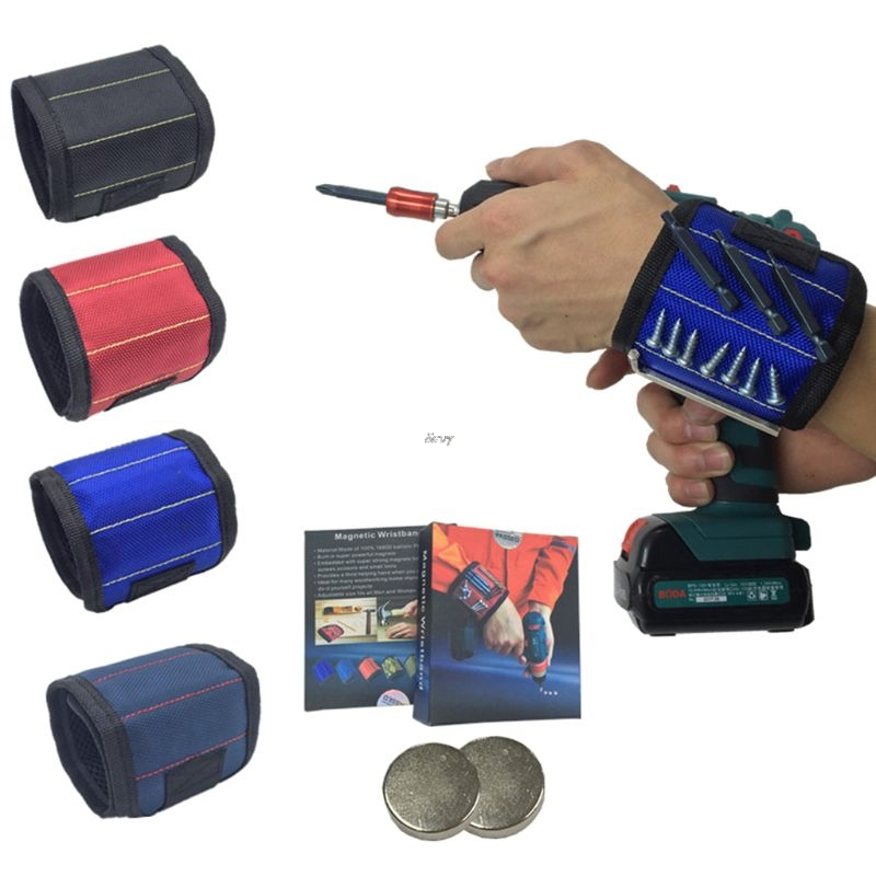 Adjustable Wristband Magnetic Holding Screws Nails Drilling Bits Convenient Small Tools Anti Lost Worker Accessory